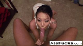 Asa akira sucks a big cock
