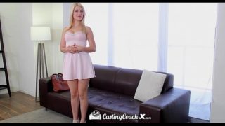 CastingCouch-X – Petite blonde Aubrey Gold tries out the casting couch