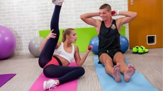 RELAXXXED – Fitness Czech teen Alexis Crystal fucks large cock in gym